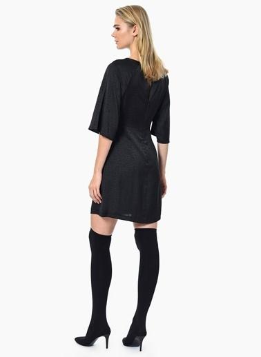 NetWork Önü Bağlamalı Mini Elbise Siyah